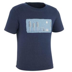 QUECHUA Chlapčenské Tričko Mh100 Modré