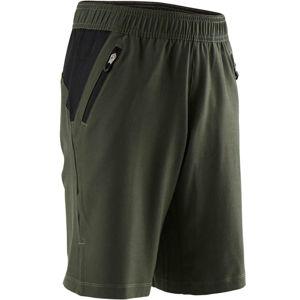 DOMYOS Chlapčenské šortky W900 Kaki